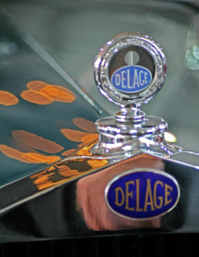 Delage Photograph - DeLage Hood Ornament by Ave Guevara