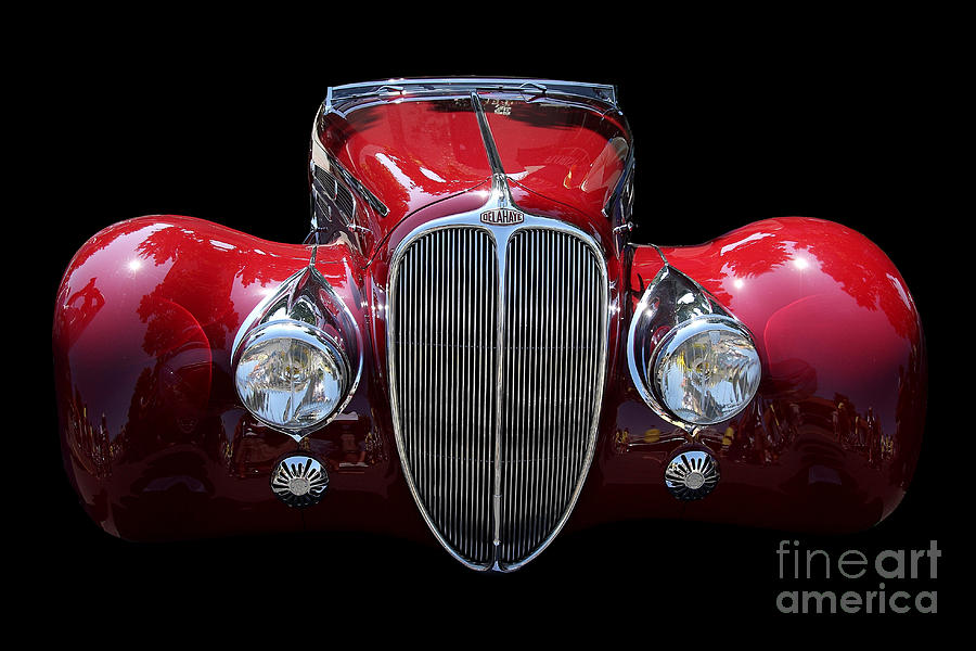 Car Photograph - Delahaye by Wingsdomain Art and Photography
