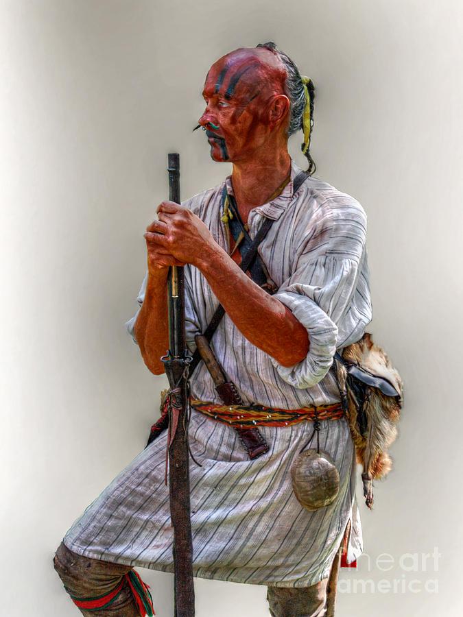War Digital Art - Delaware Indian Warrior Portrait 1763 by Randy Steele