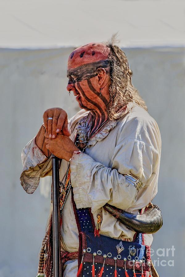 delaware indian warrior digital art by randy steele