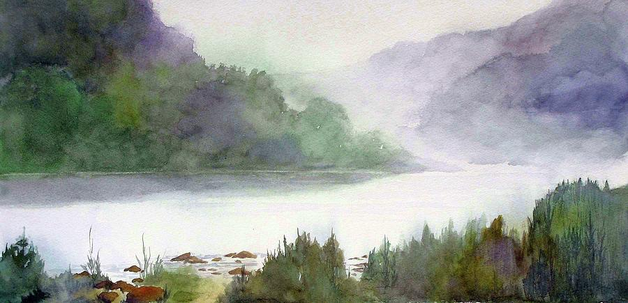 Landscape Painting - Delaware Water Gap by Mary Blumberg
