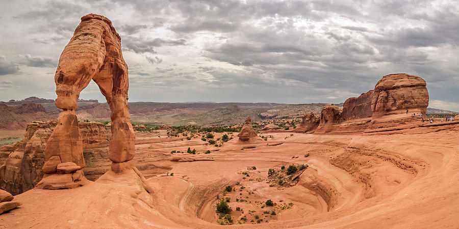 3scape Photograph - Delicate Arch Panoramic by Adam Romanowicz