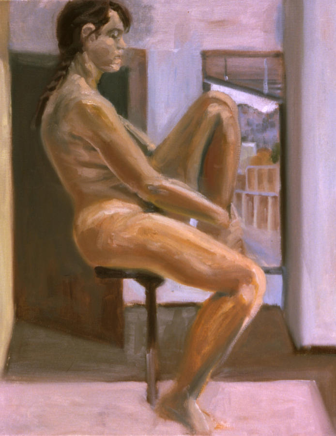 Woman Painting - Delicate Balance by John Clum