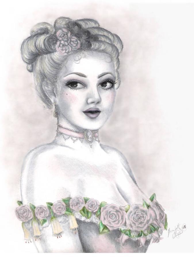 Portrait Drawing - Delicate Beauty by Scarlett Royal