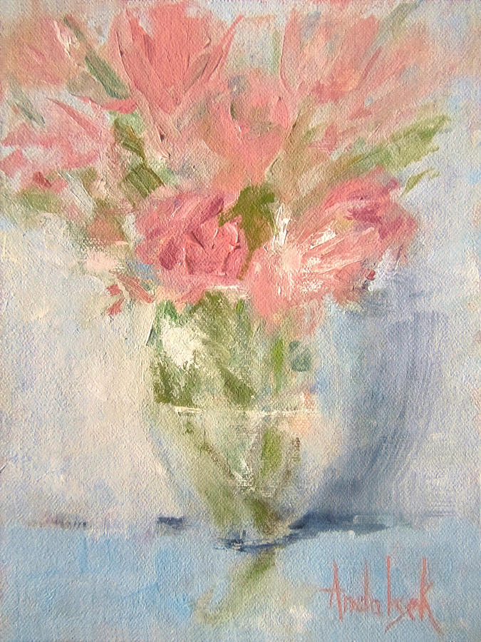 Nature Painting - Delicate Bouquet by Barbara Andolsek
