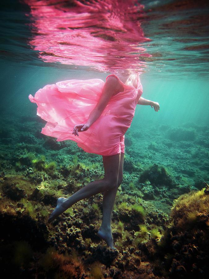 Swim Photograph - Delicate Mermaid by Gemma Silvestre