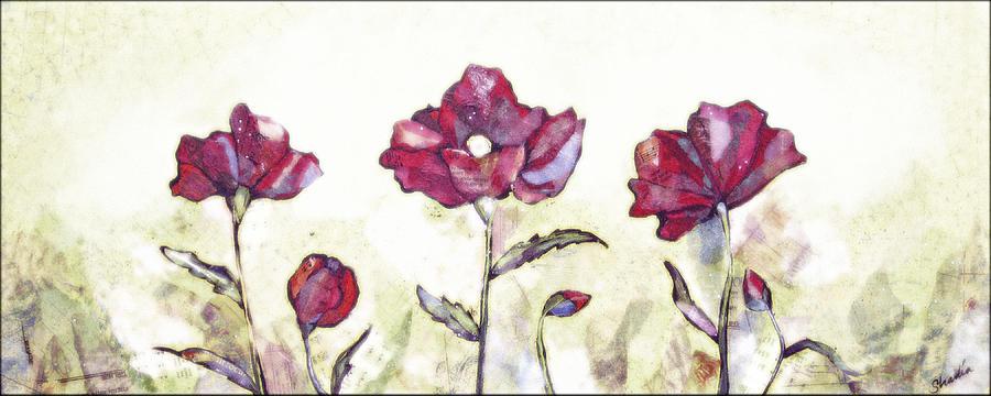 Delicate Poppy I Painting