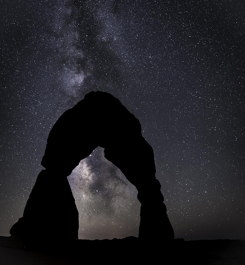 Arches Photograph - Delicate Silhouette by Tony Fuentes