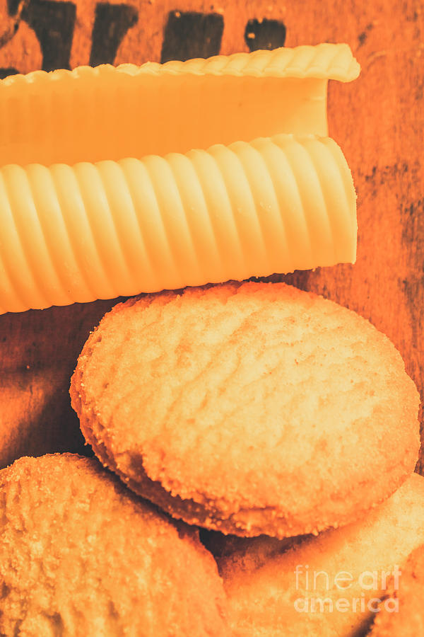 Cookie Photograph - Delicious Cookies With Piece Of Butter by Jorgo Photography - Wall Art Gallery