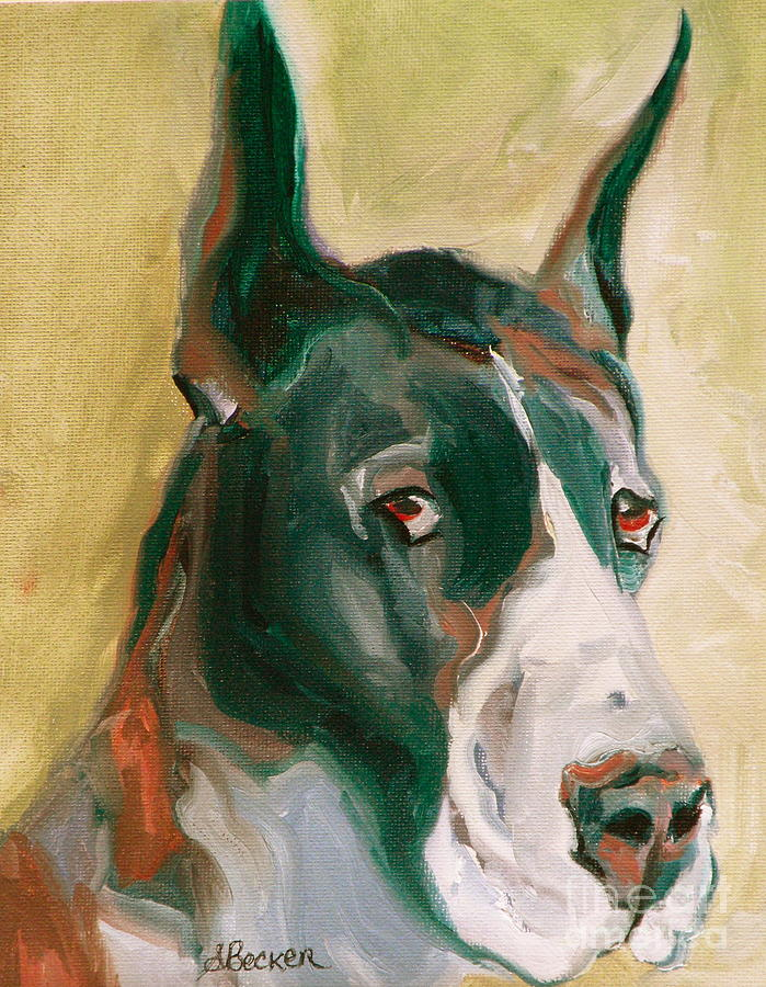 Greeting Cards Painting - Delicious Dane by Susan A Becker
