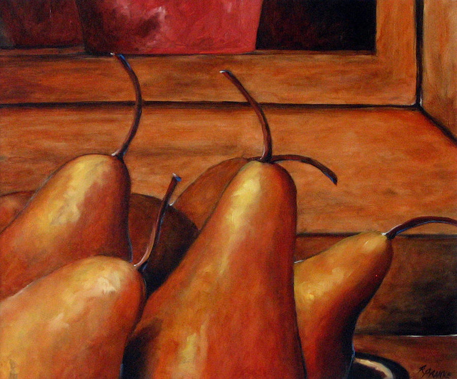 Pears Painting - Delicious Pears by Richard T Pranke