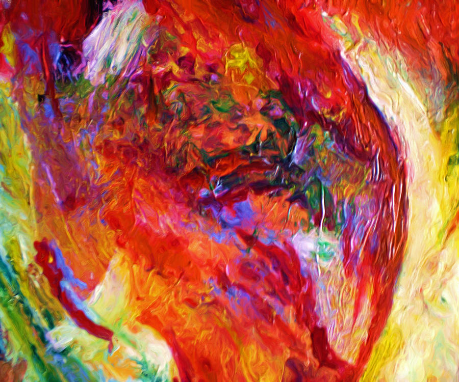 Abstract Painting - Delight by Michael Durst