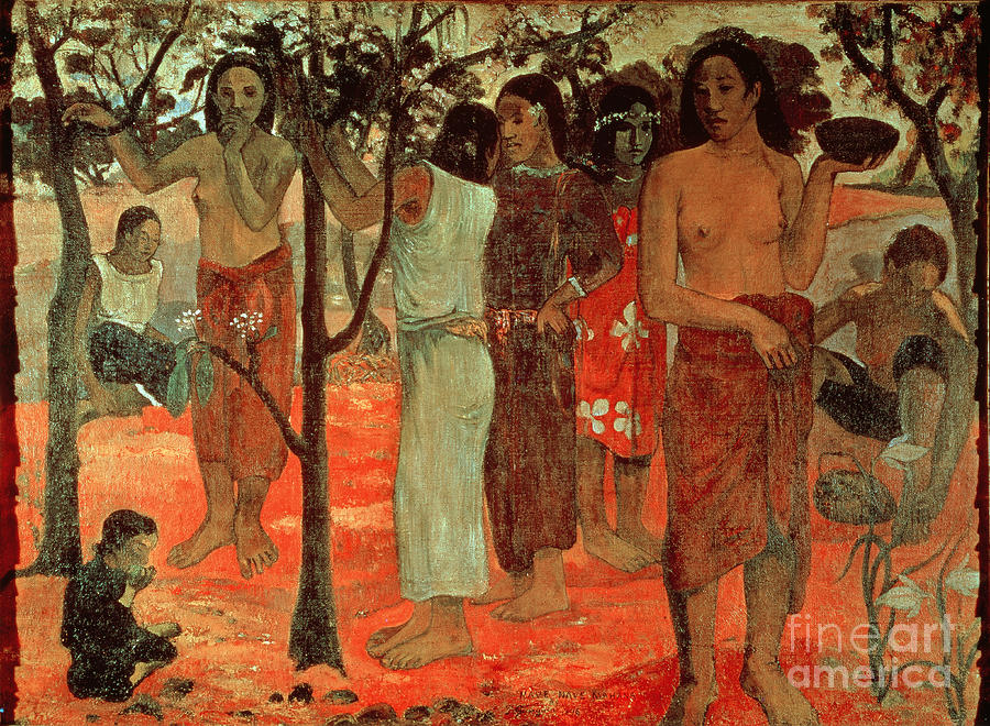 Nave Nave Mahana (delightful Days) Painting - Delightful Days by Paul Gauguin