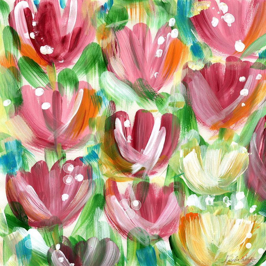 Delightful Tulip Garden Painting