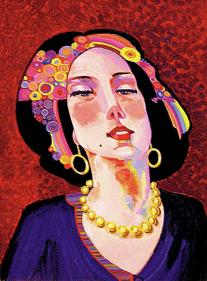 Portrait Paintings Painting - Delilah by Bob Coonts
