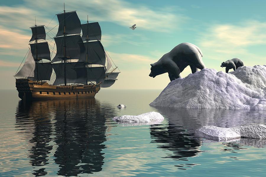 Polar Bear Digital Art - Delinquent Cub by Claude McCoy