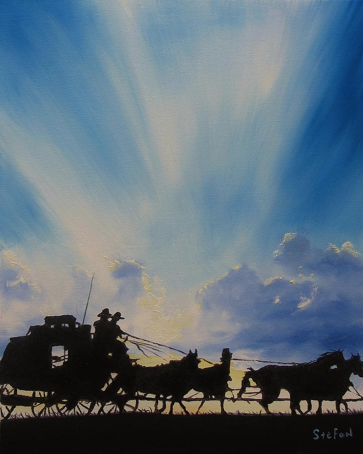 Stagecoach Painting - Deliver Me by Stefon Marc Brown