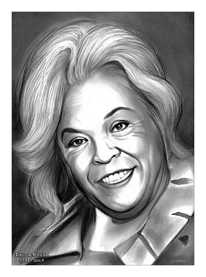 Tribute Drawing - Della Reese by Greg Joens
