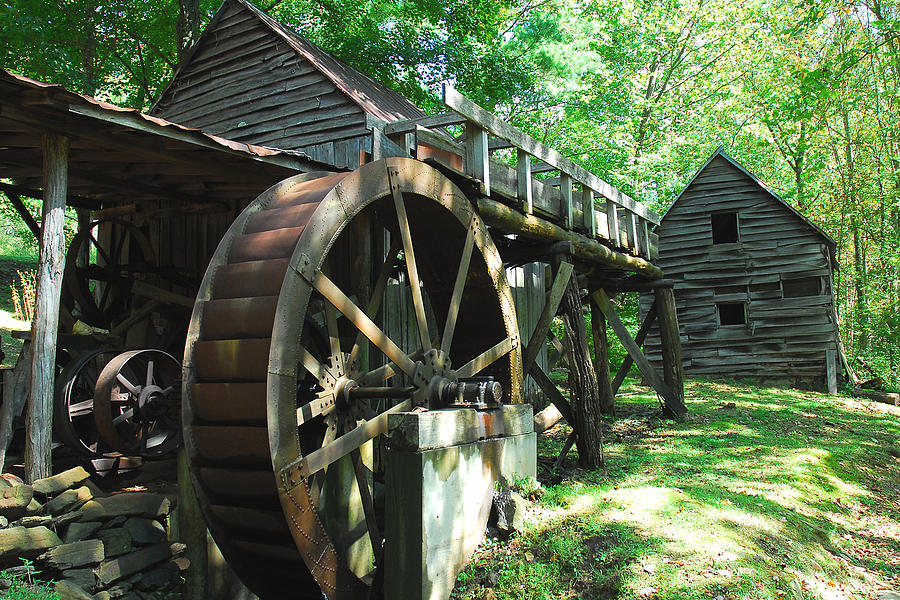 Grist Mill Photograph - Dellinger Mill by Alan Lenk