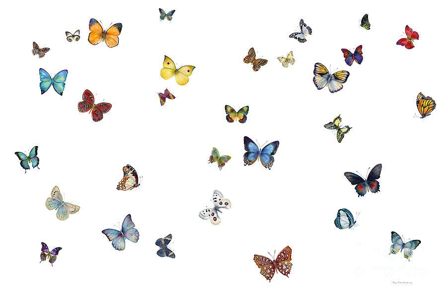Butterflies Painting - Delphine by Amy Kirkpatrick