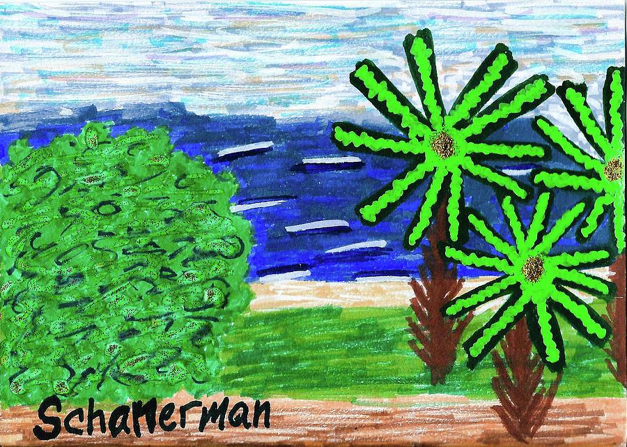Mixed Media Drawing - Delray Beach by Susan Schanerman