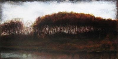 Trees Painting - Delta Copse by Joy Hanser