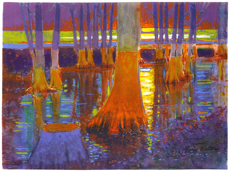 Delta Cypress Painting by Gary Walters