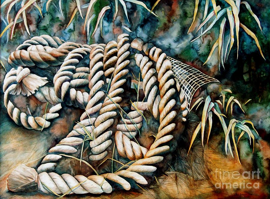 Rope Painting - Delta Days by Gail Zavala