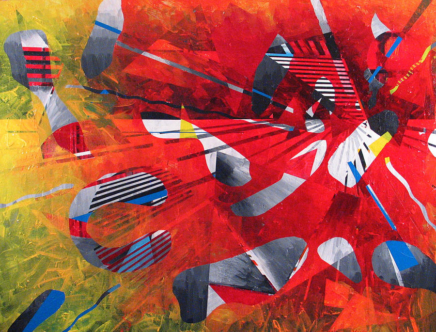 Red Painting - Delta Medley II by Rollin Kocsis
