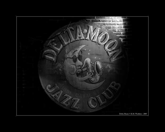 Delta Photograph - Delta Moon Jazz Club by Kate Watkins