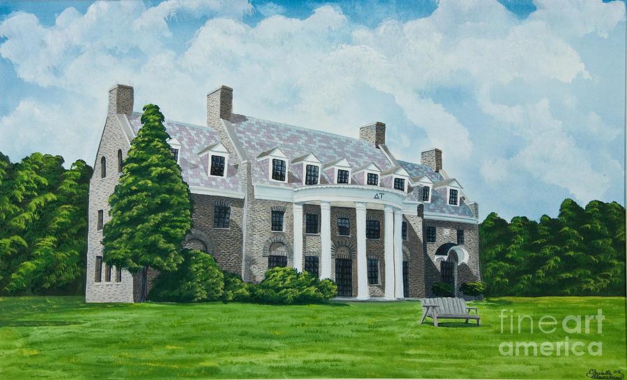 Frat Houses Painting - Delta Upsilon by Charlotte Blanchard