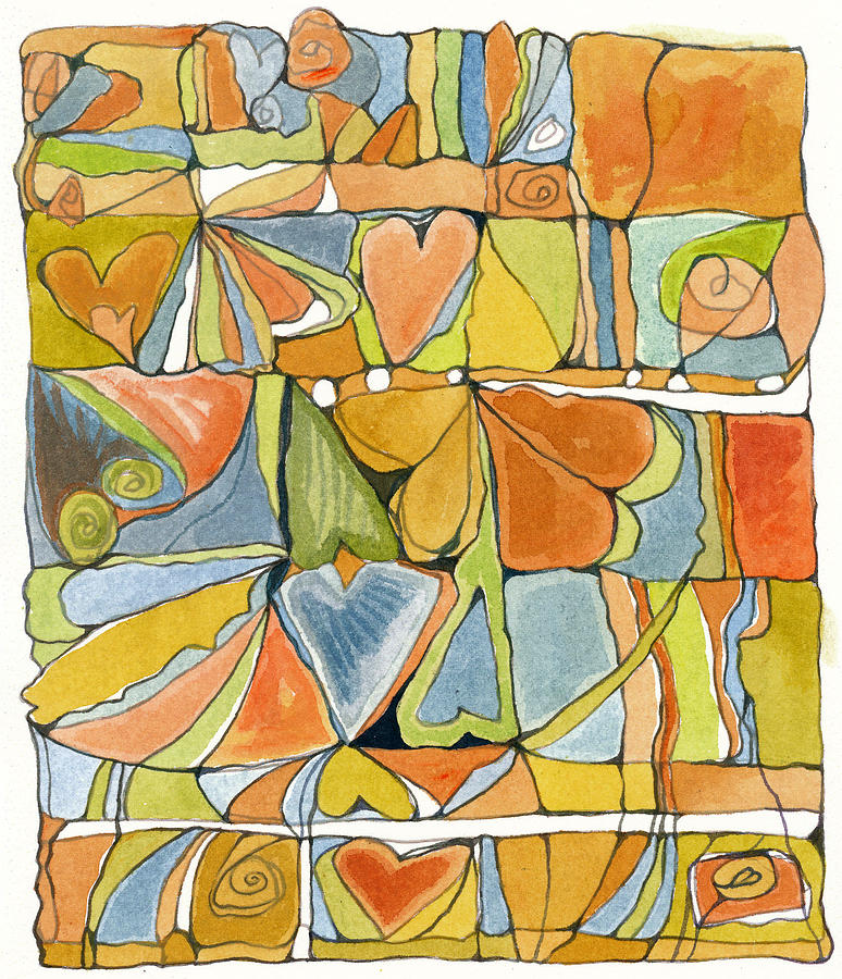 Hearts Design Painting - Delusions Of The Heart by Linda Kay Thomas