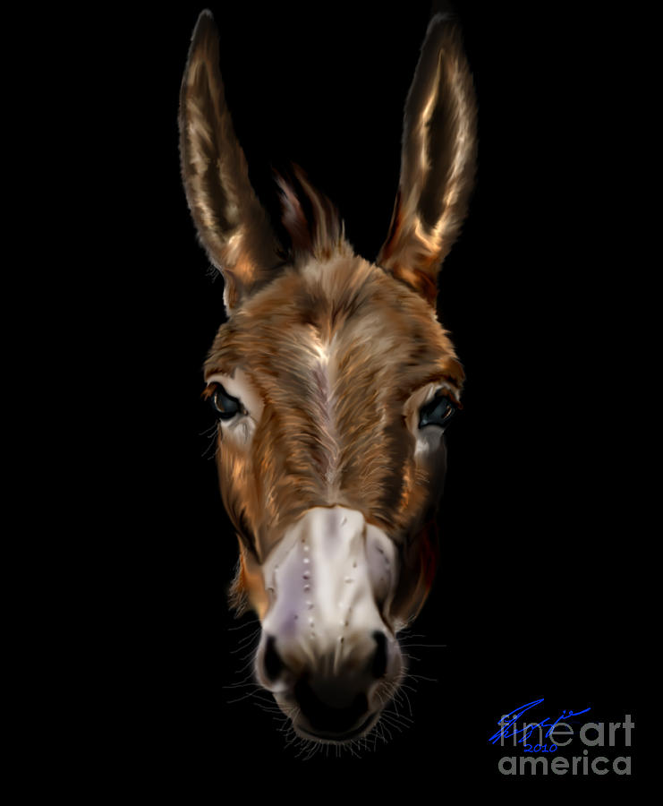 Horse Painting - Dem-donkey by Reggie Duffie
