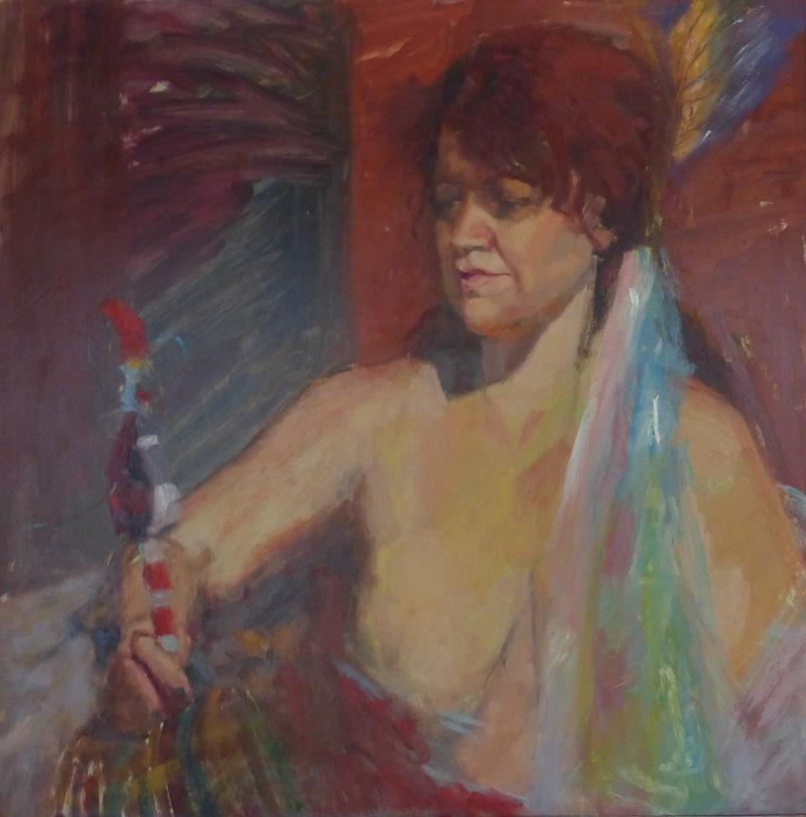 Portrait Painting - Demanding Answers by Irena  Jablonski