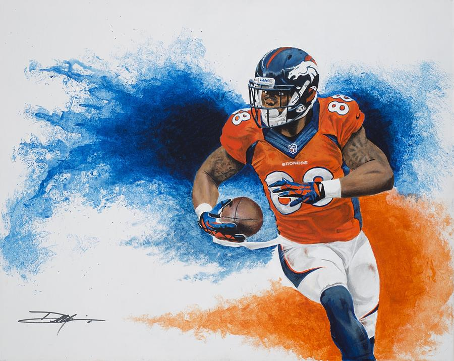 Demaryius Thomas Drawing - Demaryius Thomas by Don Medina