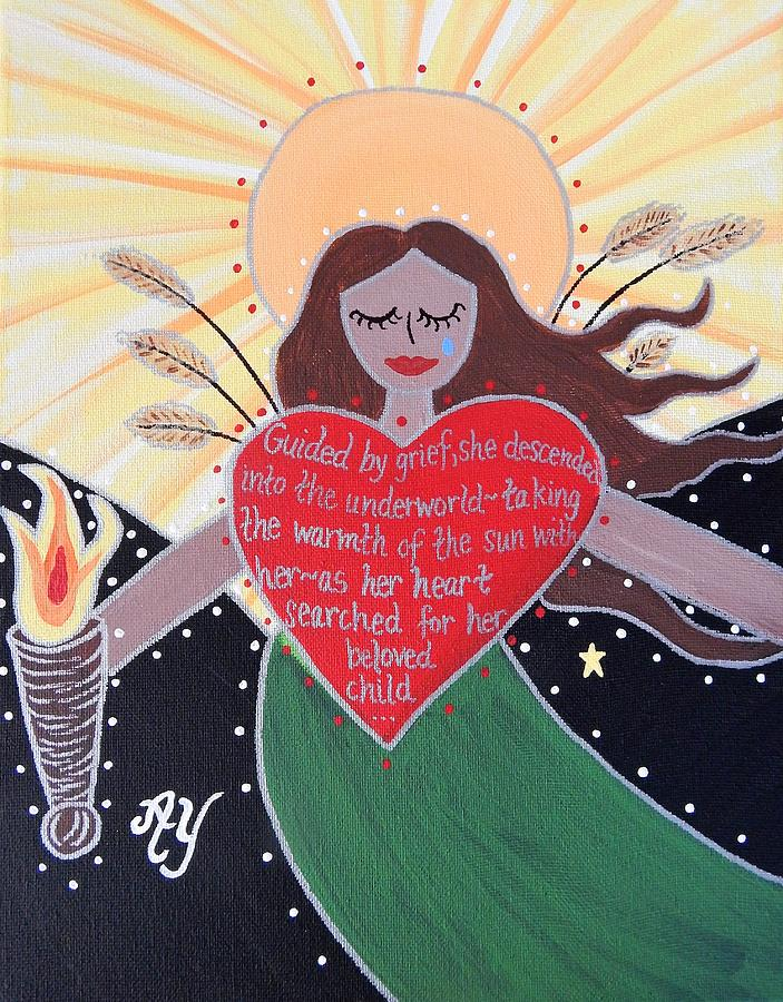 Holy Painting - Demeter by Angela Yarber