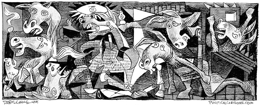 Democrat Guernica by Daryl Cagle