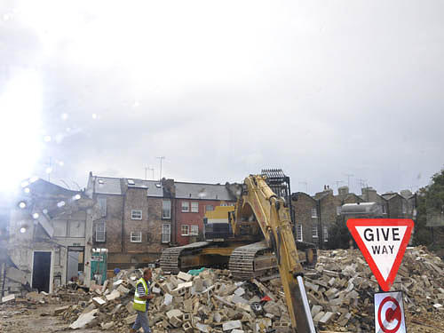 Demolition Photograph by Lucia Timbell