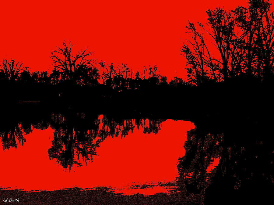 Water Photograph - Demon Reflection by Ed Smith