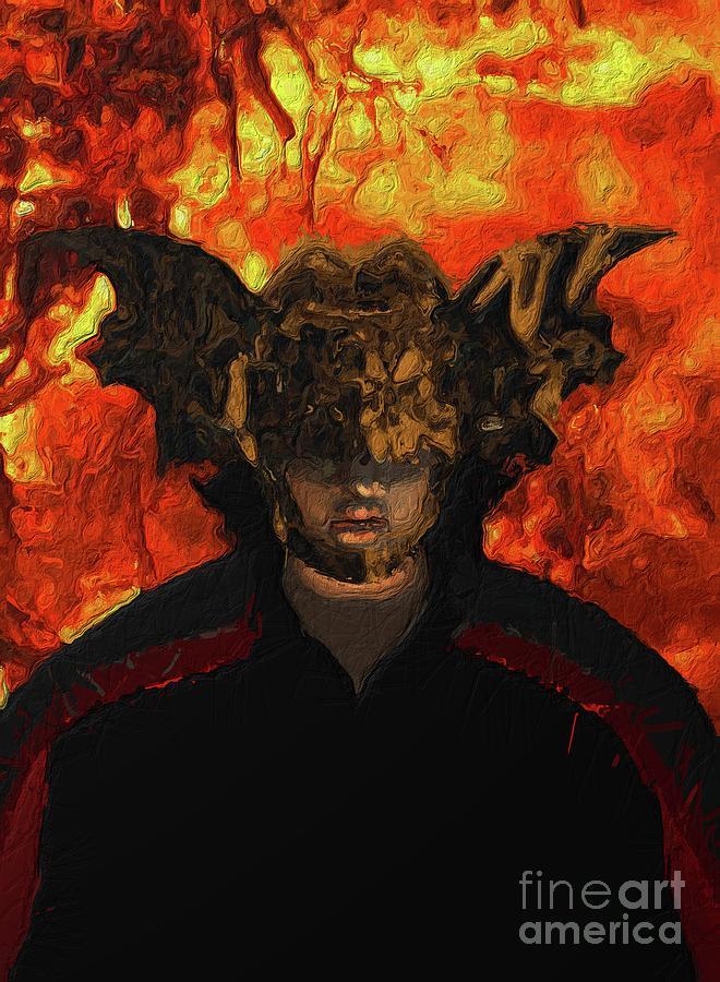 Fantasy Digital Art - Demon Vampire by Esoterica Art Agency
