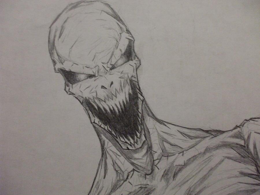 Demon Drawing - Demon Zombie by John Prestipino