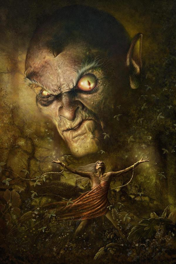 Witch Digital Art - Demonic Evocation by Uwe Jarling