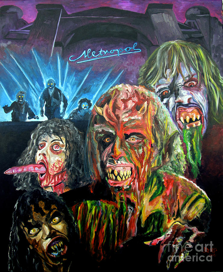 Demons Painting - Demons by Jose Mendez