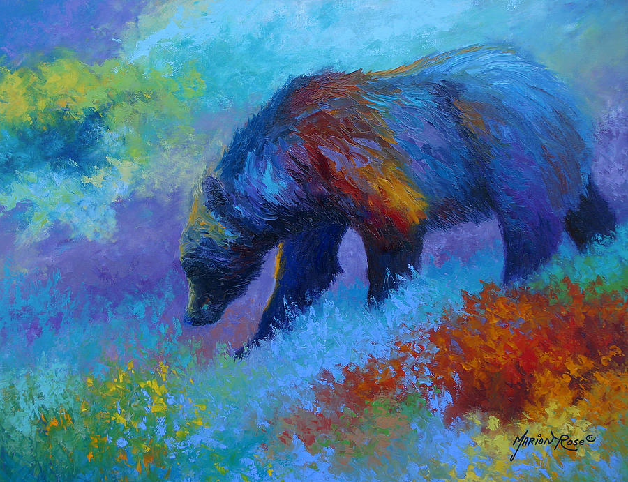 Western Painting - Denali Grizzly Bear by Marion Rose