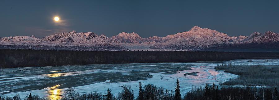 Denali Morning Blue by Ed Boudreau