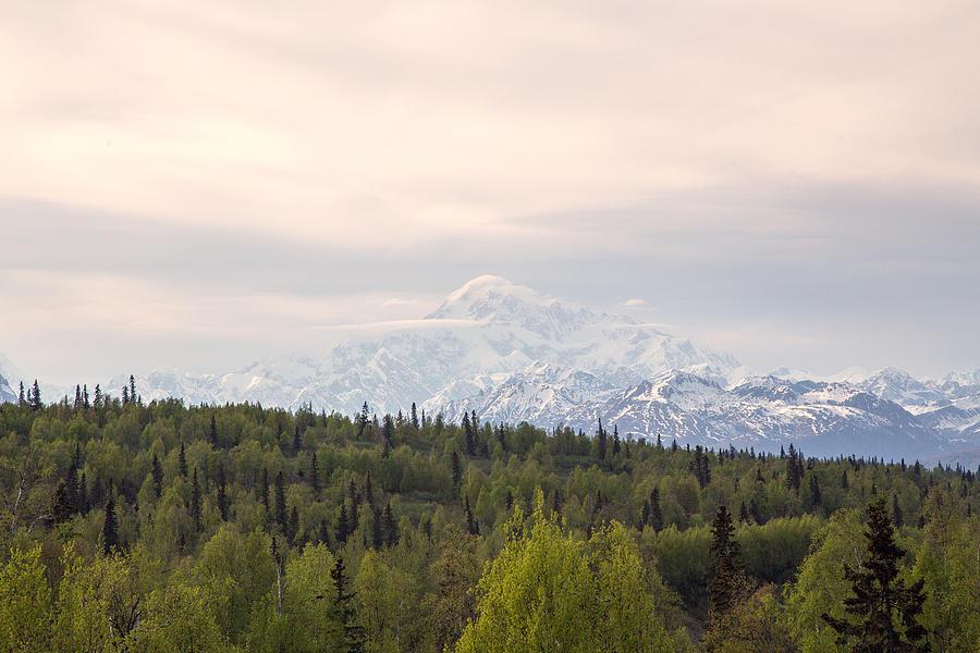 Landscape Photograph - Denali Produces Its Own Weather by Allan Levin