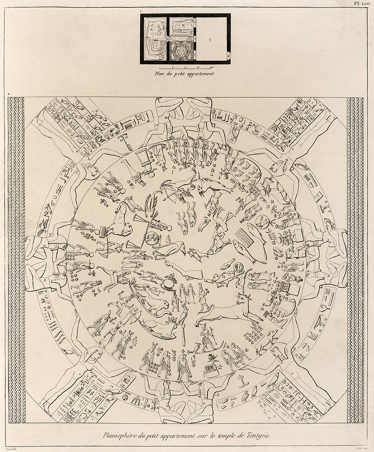 Dendera Zodiac Photograph - Dendera Zodiac From The Temple Of Hathor by Humanities And Social Sciences Libraryasian And Middle Eastern Division