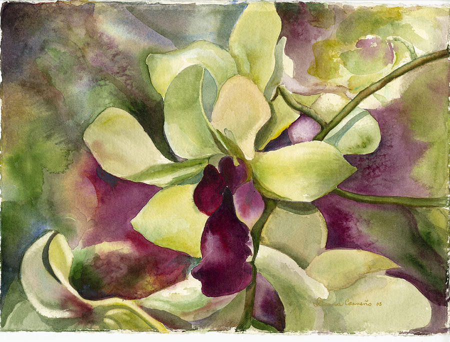 Dendrobium Delight Painting by Ileana Carreno