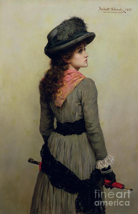 Hat Painting - Denise by Herbert Schmalz