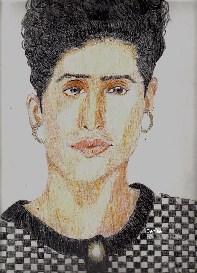 Portrait Drawing - Denise by Thomasina Marks